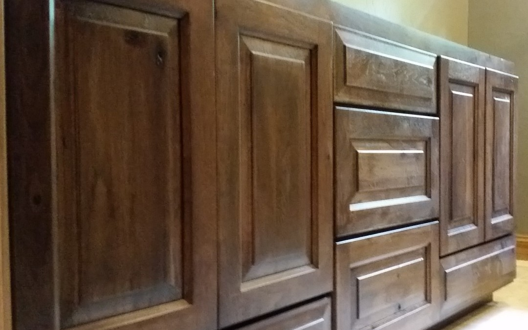 Installing Custom Hickory Cabinets